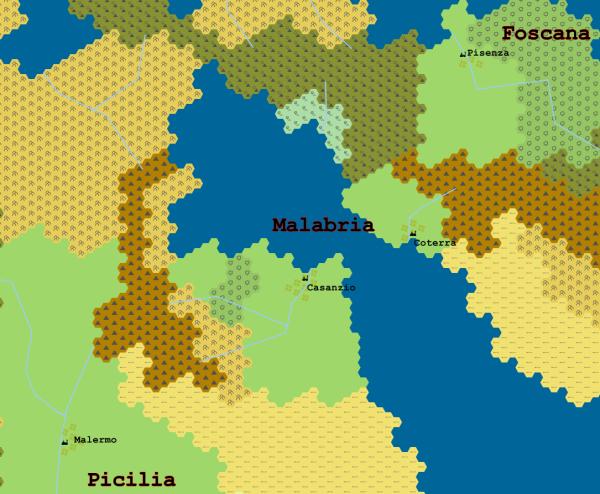 I Regni di Mezzo: Foscana, Malabria e Picilia