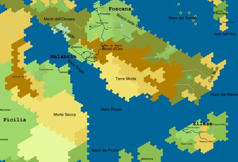 Grande mappa dei 7 mari